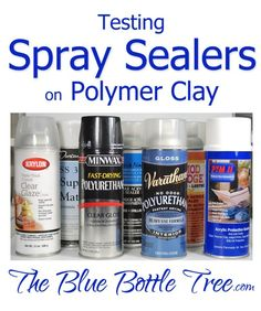 Sticky sealer? Learn about testing spray sealer on polymer clay at The Blue Bottle Tree. Excellent information on sealers as well as different brands of clay.