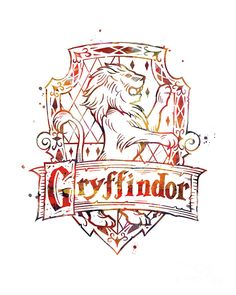 Harry Potter Mixed Media - Gryffindor Crest by Monn Print Dobby Harry Potter, Harry Potter Tattoos, Harry Potter Tumblr, Arte Do Harry Potter, Harry Potter Drawings, Harry Potter Houses, Harry Potter Pictures, Harry Potter Fandom, Harry Potter World