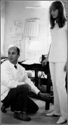 André Courrèges with favorite customer Françoise Hardy, photo by Jean-Marie Périer, 1964
