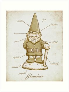 Gnomenclature Art Print by Chris Kawagiwa - X-Small Elves And Fairies, Train Pictures, Geek Out, Troll, Faeries, Sticker Design, Art Boards, Artsy, Iphone Cases