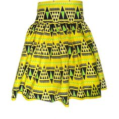 FAIR+true Fair Trade African Print Ruched Skirt ($31) found on Polyvore featuring skirts, bottoms, faldas, shirred skirt, pattern skirt, checked skirt, checkerboard skirt and ruched skirt