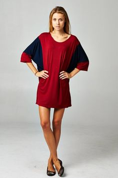 Color Block Sleeves Tunic