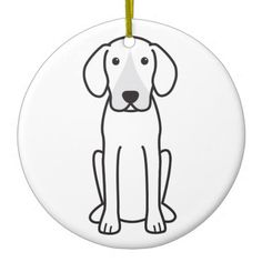 Harrier Dog Cartoon Ornament