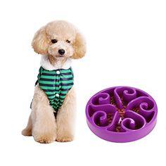 DAN SPEED Slow Feed Puzzle Dog Bowl (Flower Purple)