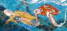 Villafana Art - Art of Marcy Ann Villafana saved to Turtles of the Caribbean Paper Works Ocean Turtle, Photo Series, Inspiration For Kids, Ocean Art, Mosaic Art, Turtles, Custom Framing, Caribbean, Art Pieces