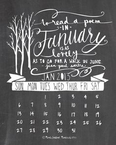 Mandipidy: Free Printable: January 2013 Calendar