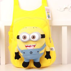 children's backpacks School bags for girls backpack for children Despicable Me Minions Plush children backpack  2-8 years old