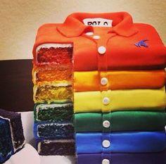 Cool polo shirt illusion cake