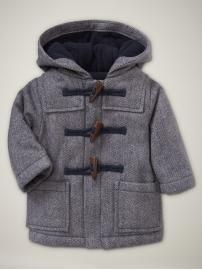 I would love this 0-3 month baby boy coat. Mini Boden Duffle Coat ...