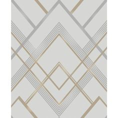 A brilliant gold and grey geometric pattern shimmers against a neutral background in this contemporary wallpaper. With metallic ink details and a sophisticated color palette, this design has a timeless and elegant style. Bradford is an unpasted, non Grey And Gold Wallpaper, Brick Wallpaper Roll, Metallic Wallpaper, Embossed Wallpaper, Wallpaper Panels, Wallpaper Samples, Geometric Wallpaper, Textured Wallpaper, Pattern Wallpaper