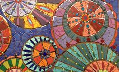 Mosaic Kaleidoscope mural at IMA