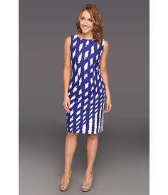 Nine West Electric Shapes Dress Marine Blue Combo - 6pm.com