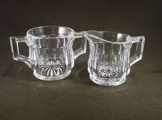 Vintage Heisey Glass Sugar and Creamer Small Set
