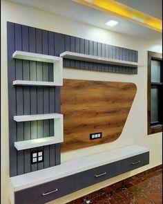 Lcd Unit Design, Lcd Panel Design, Tv Wall Design, Tv Unit Furniture Design, Bedroom Furniture Design, Tv Showcase Design, Wall Unit Decor, Front Door Design Wood, Modern Tv Wall Units