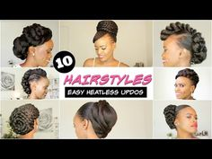 The easiest and fastest natural hair updo you will ever have to do in your life. This protective styling natural hair updo took no time create. Natural Hair Wedding, Natural Hair Updo, Natural Hair Styles, Short Hair Styles, Black Wedding Hairstyles, Spring Hairstyles, Black Women Hairstyles, American Hairstyles, Hairstyles 2018