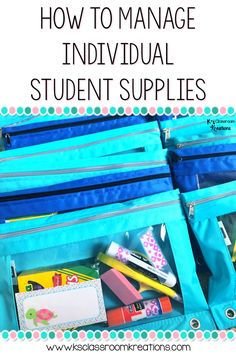 If you are trying to find a way to manage individual student supplies, these tips are for you! This classroom organization hack will help get rid of classroom messes and hold students accountable for their belongings.
