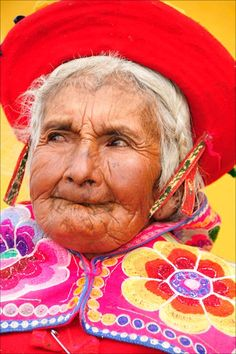 Old Woman from Peru  Grandmother. Somebody's Mama. Beauty. Strength. Wisdom.