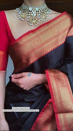 Bridal Sarees South Indian, Indian Bridal Fashion, Indian Fashion Dresses, Indian Designer Outfits, Indian Outfits, Cotton Saree Designs, Saree Blouse Neck Designs, Wedding Lehenga Designs, Saree Trends