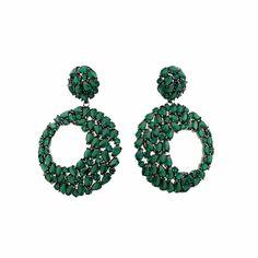 Σκουλαρίκια από μαύρο ασήμι 925 με πράσινα ζιργκόν   tsaldaris.gr Crochet Earrings, Jewelry, Jewlery, Jewerly, Schmuck, Jewels, Jewelery, Fine Jewelry, Jewel