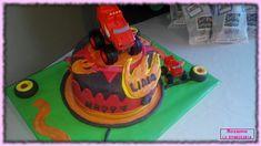 blaze and the monster truck cake Truck Cakes, Cake Pops, Madness, Monster Trucks, Desserts, Tailgate Desserts, Deserts, Postres, Dessert