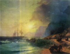 Aivazovsky Paintings-The Island of Crete, 1867