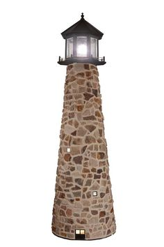 Available in a variety of sizes. Definitely a unique lighthouse - perfect to light the end of your dock!