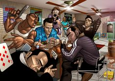 More GTA characters from Patrick Brown.
