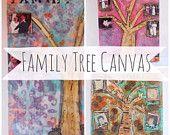 Custom Family Tree Art - Custom Art - Custom Family Tree - Custom Art Work - Mixed Media Art - Bespoke Art - Bespoke Family Tree - Art