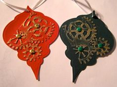 Gear Ornament Gift Tags