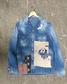 thedenimfoundry:   ISKOJapanese-sashiko-inspired denim jacketA/W 16/17 pictured by the WGSN denim team, Denim PV.