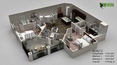 3D Floor Plan Visualization - 3D Floor Plan Design - CG Gallery - Computer Graphics Forum