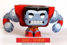 Colossus Mini Paper Toy - by Gus Santome -- Gus Santome presents his new model of X-Men series: Colossus, in a nice Mini Paper Toy style.