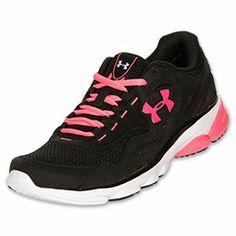 Women's Under Armour Assert III Running Shoes| FinishLine.com | Black/White/Cerise