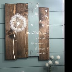 Life is a balance of holding on and letting go Pallet wood art Dandelion wall art Pallet sign Rustic Wood Signs Art balance dandelion holding letting life Pallet Sign Wall Wood Wood Plank Art, Wood Pallet Signs, Rustic Wood Signs, Rustic Wall Decor, Rustic Walls, Wood Pallets, Wood Art, Dandelion Wall Art, Reclaimed Wood Wall Art