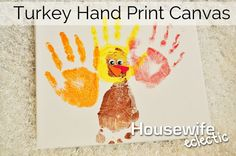 Housewife Eclectic: Turkey Hand Print canvas