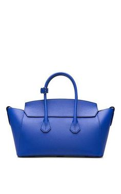 Medium Leather Tote Bag In True Blue by Bally (=)