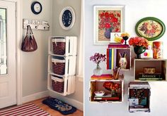 Jeitos criativos de usar caixotes na decoração da casa