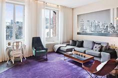 Violet floor carpet