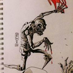#2of545 #dailysketch #545sketches2go #horror #ink #art #illustration #comic #comicbook #sketch #Character #cartoon