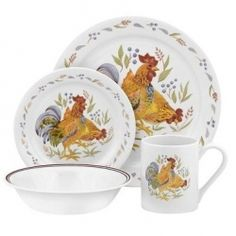 Found it at Wayfair - Corelle Impressions Country Morn 16 Piece Dinnerware Set Square Dinnerware Set, Dinnerware Sets, Melamine Dinnerware, Kitchen Sets, Kitchen Decor, Kitchen Dining, Dining Room, Kitchen Dishes, Kitchen Things