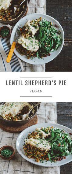 Vegan Lentil Sheperd's Pie  --  it makes a great Thanksgiving side dish! Recipe here: https://greenchef.com/recipes/lentil-shepherd-s-pie-with-spinach-salad-vegan?utm_source=pinterest&utm_medium=post&utm_campaign=social&utm_content=lentail-shepards-pie