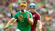 "Our Gaelic Tradition (haiku) ""Hurling is played like - Lacrosse with sicks and balls but - much more violent"" Tom Morrissey of Limerick and Paul Killeen of Galway face off in the All-Ireland senior hurling championship final in August"