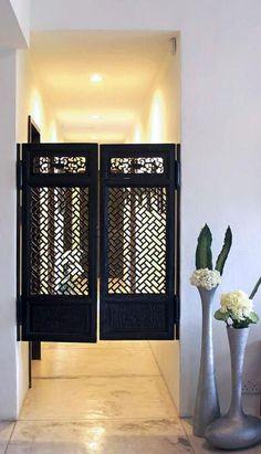 Salon doors for wall accent decoration Cafe Door, Deco Zen, Beauty Salon Decor, Home Salon, Swinging Doors, Salon Style, Break Room, Salon Design, Beauty Room