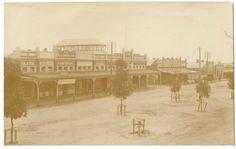 RAINBOW, FAR WEST VICTORIA, AUSTRALIA, RPPC c 1915, FANTASTIC STREET VIEW, SHOPS
