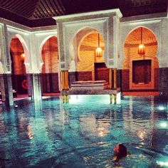 And the indoor pool. #lamamounia #maroc