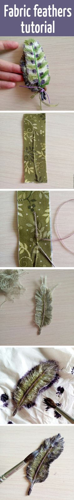 Fabric feathers tutorial Would look fab with some fabric flowers!