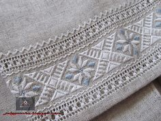 Hardanger Embroidery, Ribbon Embroidery, Cross Stitch Embroidery, Embroidery Patterns, Drawn Thread, Textiles, Bargello, Embroidery Techniques, Blackwork