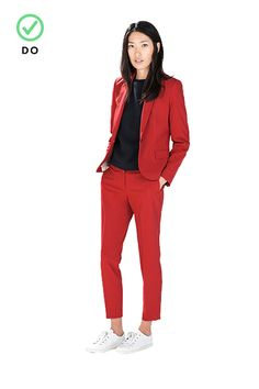 The Dos & Don'ts Of Fall's Trickiest Trends #refinery29  http://www.refinery29.com/daring-fall-trends-2014#slide10  Suit SetsDo: It's all about the crop. Pants that end at your ankle can be worn with a pump for work and a sneaker for play. A jacket with a thin lapel and slim shoulders gives your outfit an off-the-runway feel.