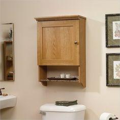 Sauder Sundial Wall Cabinet in Highland Oak - transitional - Medicine Cabinets - Cymax