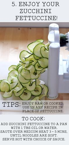 How to Make Zucchini Fettuccine - In Sonnet's Kitchen